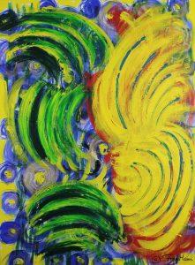 gelb grün quelle leben