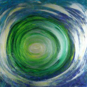licht grüntöne spirale