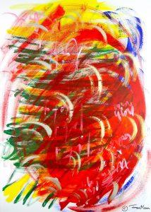 herz freude rot striche
